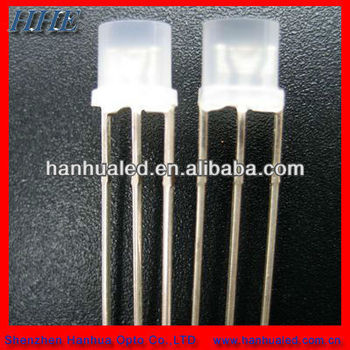 5mm flat bi-color led diode with high brightness