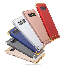 New design For samsung galaxy note 8 case slim shockproof hybrid cover, 3 in 1 hard pc plating phone cover with wholesale price