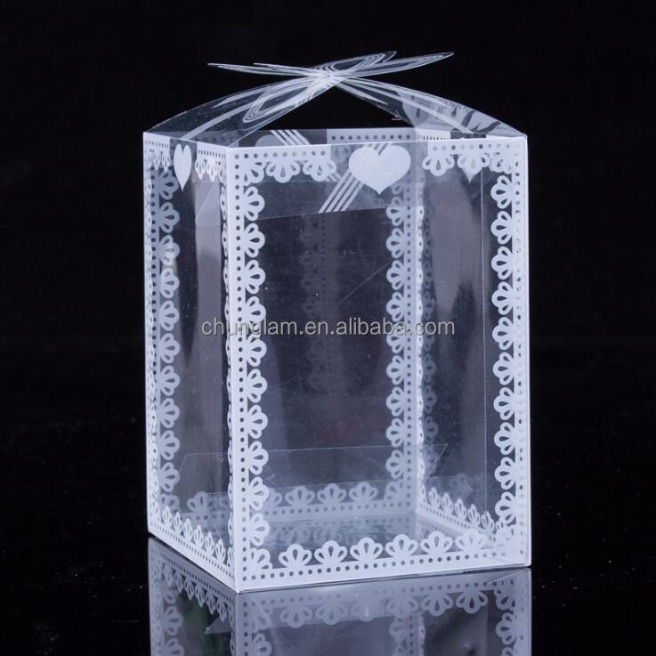 Customized Transparent Plastic Folding Gift Box