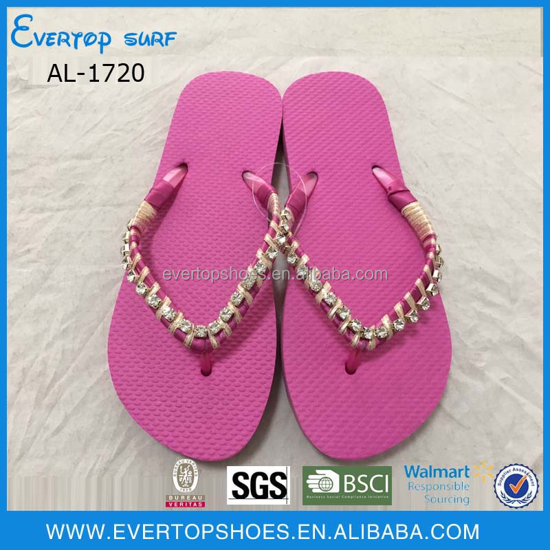 rose red pe flat custom flip flops wholesale
