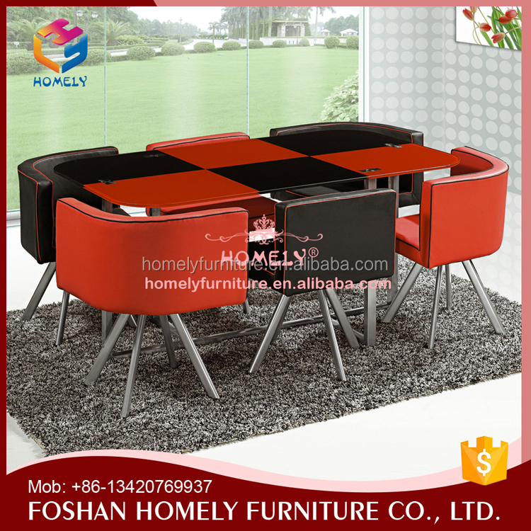 High quality dinning table set glass