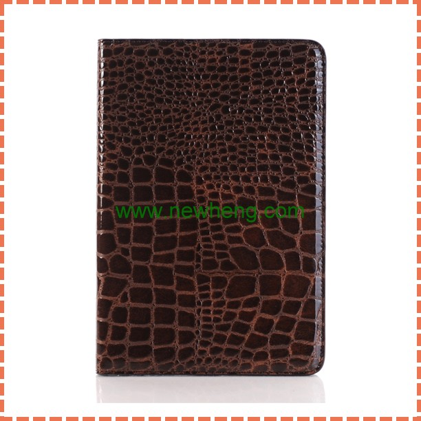 New Products Crocodile PU Leather Flip Stand Case For iPad Mini 4