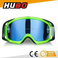 HUBO Motocross New Fashion Black Frame Motocycle Goggles with Anti-UV Grey Lens make in china factory
