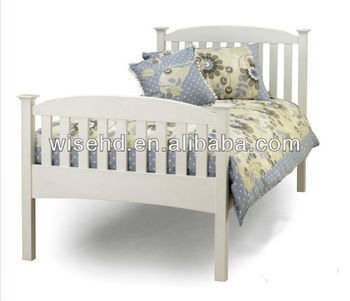 W-B-0093 pine wood latest bed designs