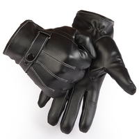 Mens Thinsulate Leather Gloves Soft Fleece