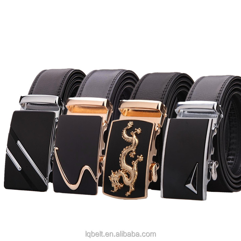 LQbelt factory OEM Genuine leather automatic buckle <strong>belt</strong> wholesale <strong>belts</strong> for men stock ratchet <strong>belt</strong>
