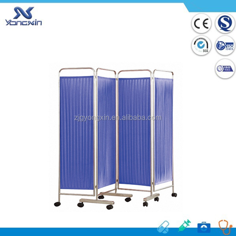 YXZ-028D Stainless Steel Hospital Ward 4 Parts Folding Ward Screen
