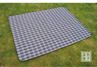 Solid Color Roll-up Beach Mat Folding Polar Fleece Picnic Blanket With Waterproof Backing