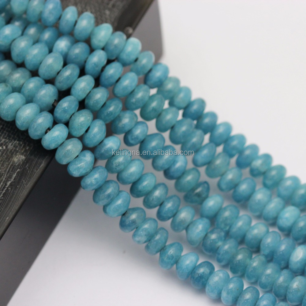 2.0mm Large Hole Hot Selling Rondelle Blue Sponge Quartz Gemstone Loose Beads Sapphire Beads
