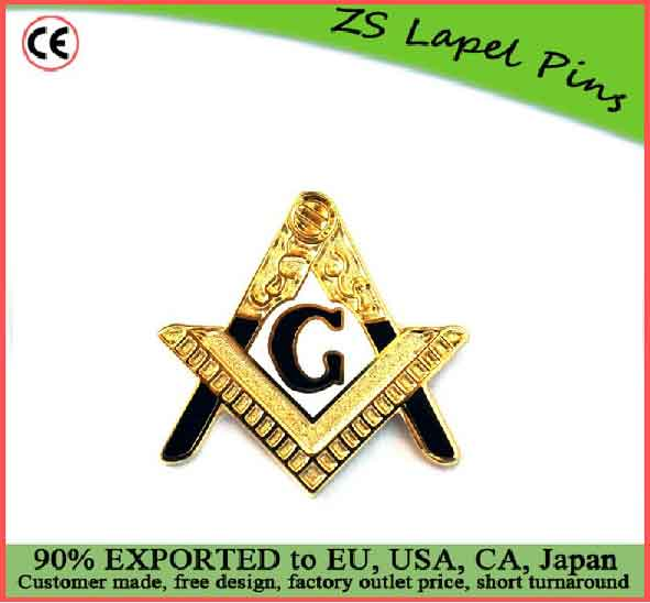 custom quality Entered Apprentice Masonic Freemason Lapel Pin