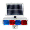 Red And Blue Solar Control Flashing 3 Aspect Led Traffic Warning Light