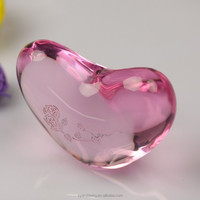 new product clear low price High quality 3d laser engraving crystal heart