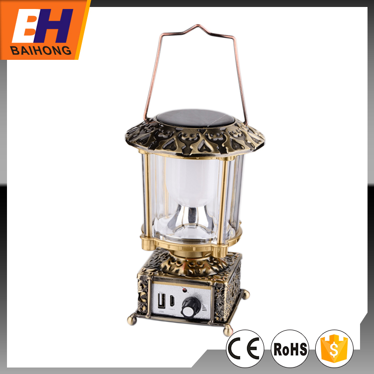 Solar Power High Power LED Camping Lantern with USB Charge