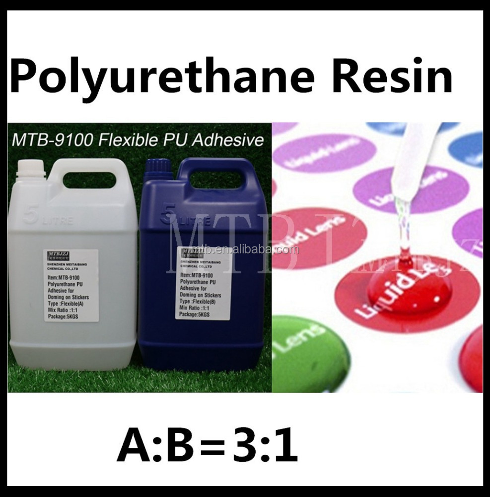 Two Components PU Glue Clear Polyurethane Resin for Label Doming