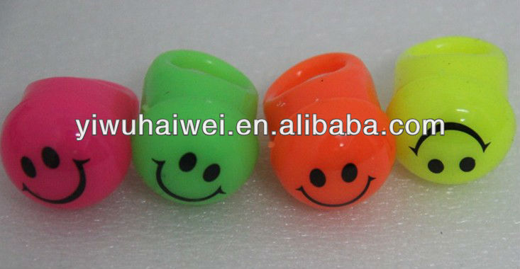 Smiling face glowing ring toys