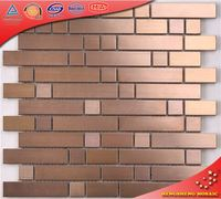 SA55 Stainless Steel Copper Metal Mosiac Tile for Kitchen Backsplash
