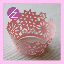 Haoze Brand Laser Cut Cupcake Wrapper for Wedding Party Decoration DG-49