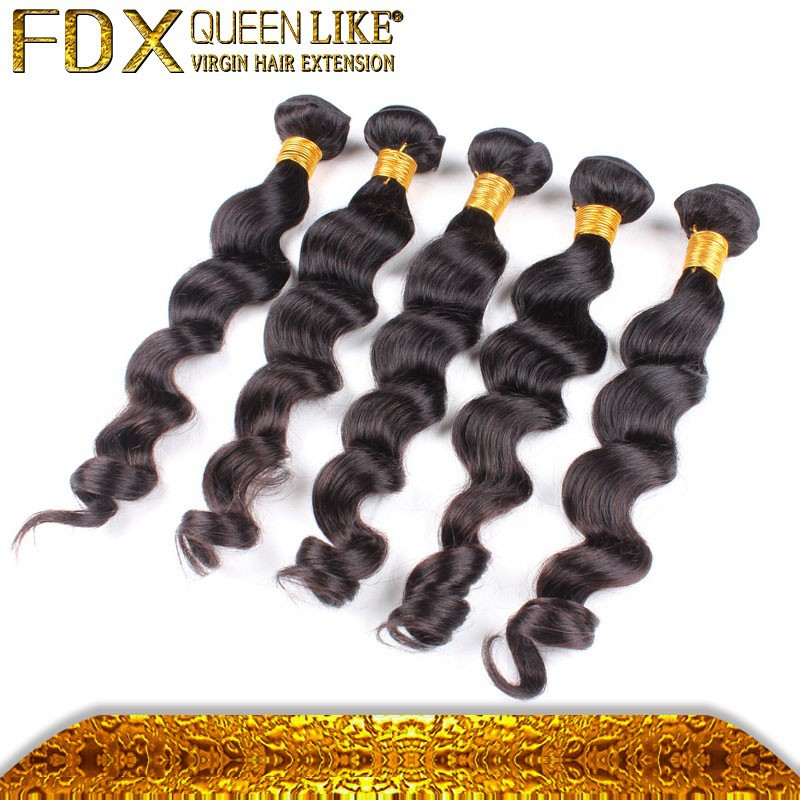 Guangzhou hot beauty loose wave virgin crochet hair extension
