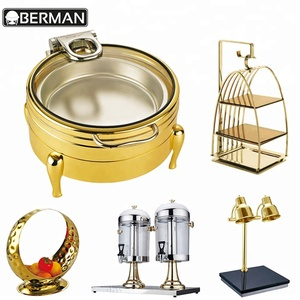 Berman kitchen utensils and appliances hotel decorative fancy buffet counter top food warmers for catering