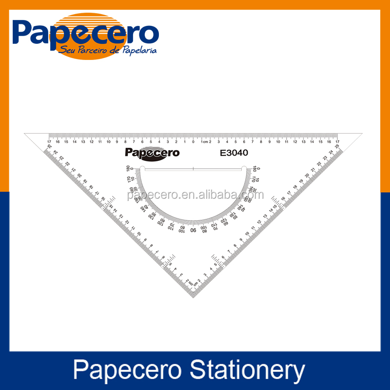Hot Sale Plastic Triangular Scale Ruler with Right Angle