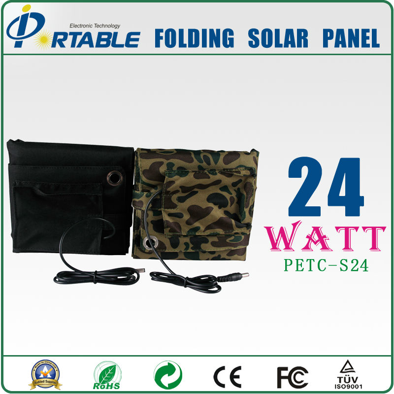 Quick Shipping 24W Portable Power Solar Panel System Battery Charger