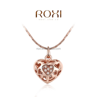 ROXI Fashion jewelry Gold Heart Wedding Necklace Wholesale jewelry in low prices