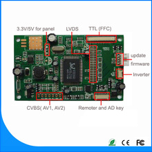"lcd av controller board for BOE 21.5""Desktop Monitor,TTL 40Pin FFC LVDS 30Pin with CVBS input tft lcd board"