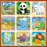 20 Pieces Cartoon Animation Plane Jigsaw Early Childhood Building Block Baby Iq Educational Picture Wooden Toys Puzzle