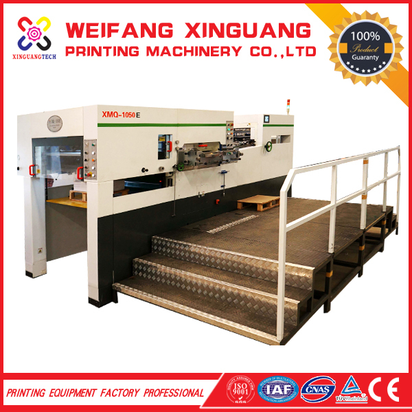 XMQ-1050E automati die cutting machine print finishing equipment