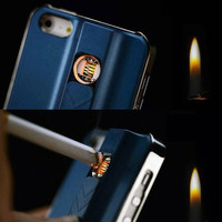 2016 lighter case for phone cigarette lighter mobile phone case with USB charger for Iphone 6/6plus 6s Phone case