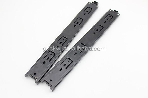 guangzhou factory wholesale kitchen cabinet drawer slide channel heavy duty plastic telescopic drawer slide