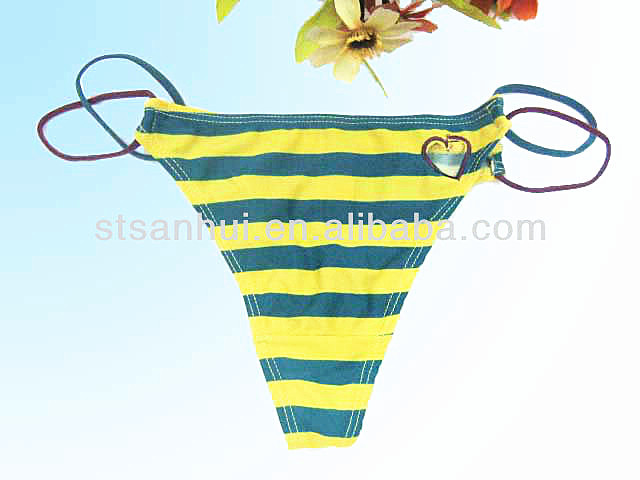 Stylish striped hot sexy photo ladies thong g-string