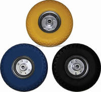 3.00-4 pu foam filled solid rubber wheels