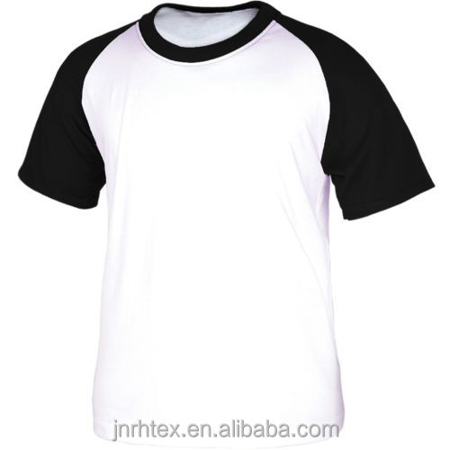 Blank raglan short sleeve cotton t-shirt for mens