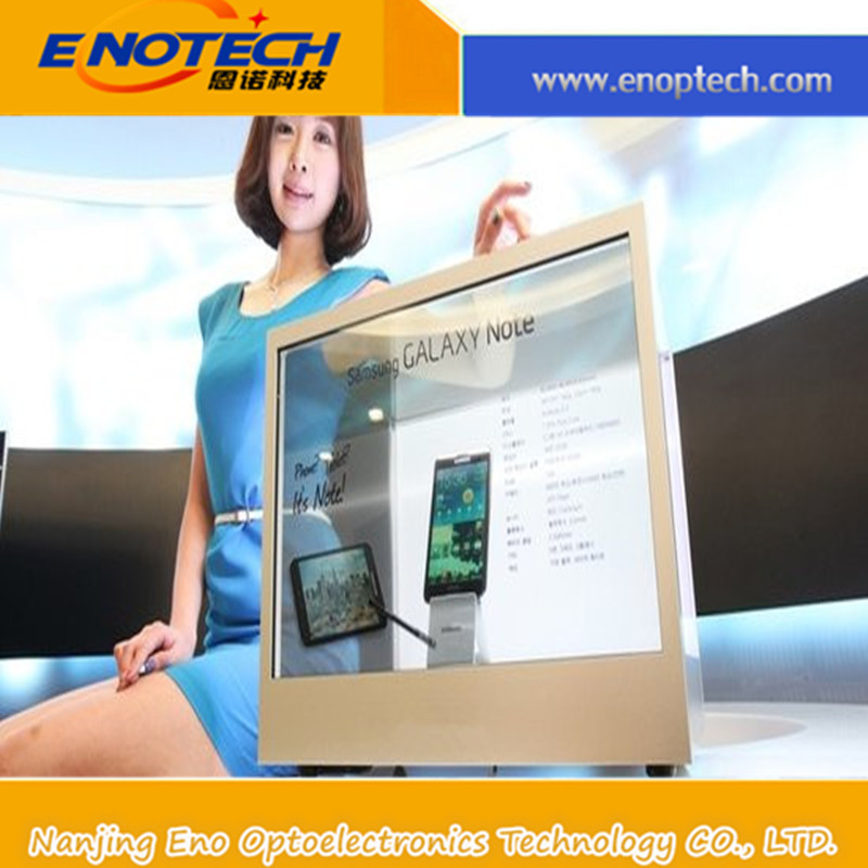 Transparent LCD 3d wall panel with USB with animation transparent oled screen