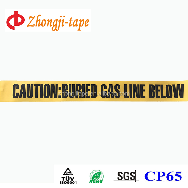 Factory supply underground pe gas line warning tape