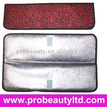red leopard hair straightener heat resistance mat P003