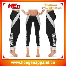 Hongen apparel High Quality Seamless Black Yoga Pants Yoga Pants Beautiful Sexy Design , Athletic Apparel Manufacturers