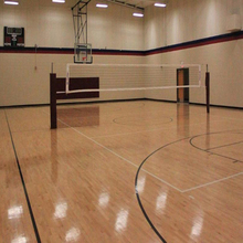 Eco-friendly nontoxic healthy school used PVC indoor sport flooring for volleyball Court