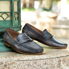 Comfort stylish Italian leather moccasin mens loafers shoes for men