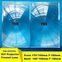 "DIY Projector Accessaries 7"" Ultra High Resolution Clear Fresnel Lens LED Light Lens"