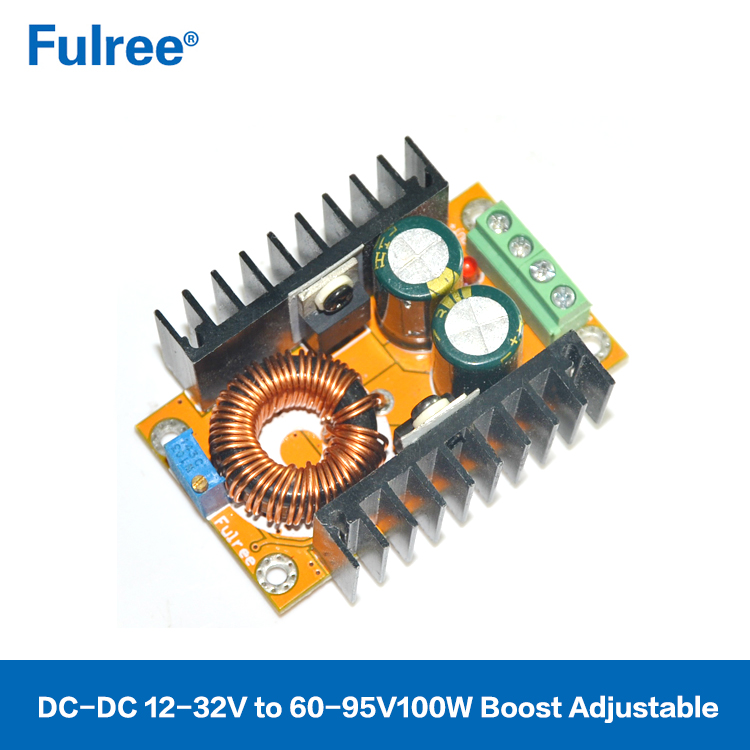 100W Adjustable DC Power Supply 10-32V to 60-95V DC-DC Step Up Converter Boost Module 2A Max