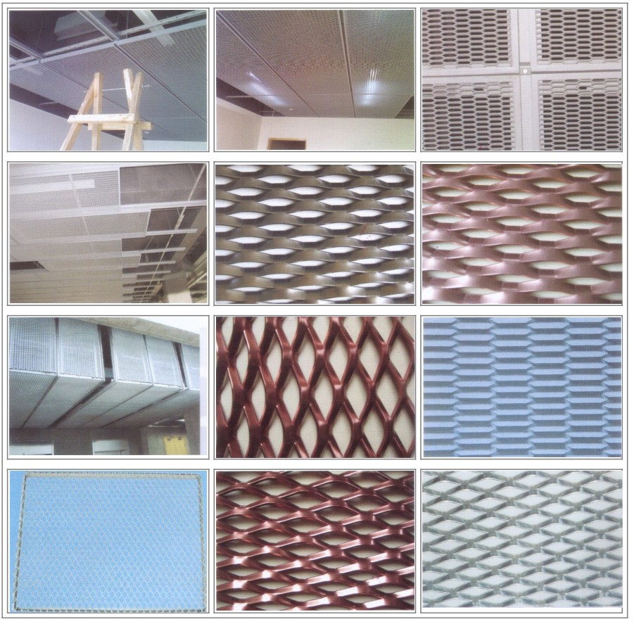 Best price Flattened Expanded Metal prices/Green coated Aluminum expanded metal mesh(factory sales)