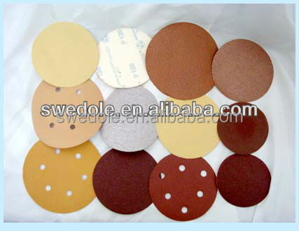 hook and loop gold abrasive sanding discs