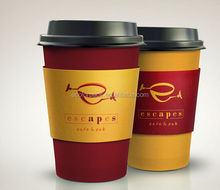 Fancy Food Grade Disposable Coffee Cup with Lid