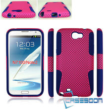 New MESH SILICONE COMBO Phone HYBIRD CASE For Samsung Galaxy Note2 N7100 Cover Case