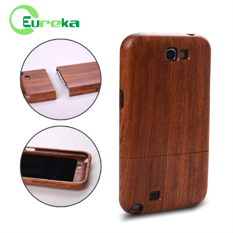 Custom real bamboo wood cellphone cases for Samsung Note 2 N7100