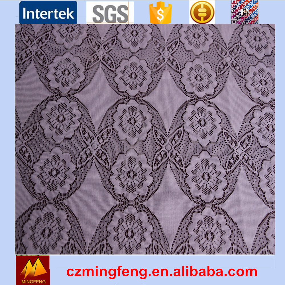 2017 Hotting Sell Champagne Lace Fabric For Curtains