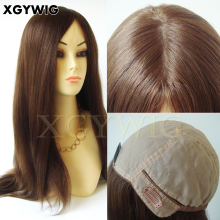 Wholesale 100% virgin Remy Brazilian Human Hair full silk cap multi-directional free style kosher Jewish wigs