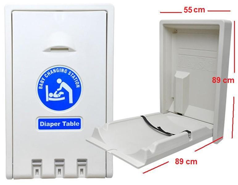 Baby Changing Station / Baby Changing Table / Baby Diaper Station (Horizontal model)